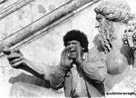Roma, Giugno 1986 - Manifestazione in Campidoglio degli abitanti case occupate
