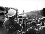 Roma, Febbraio 1968 - Occupazione università La Sapienza, concentramento di sinistra