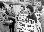 Roma, Marzo 1977 - Emma Bonino alla manifestazione dei radicali