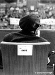 Roma, Maggio 1974 - Pietro Nenni alla manifestazione per il divorzio
