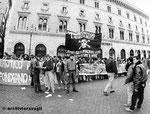 Roma, Dicembre 1993 - Manifestazione studenti di destra