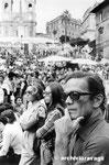 Roma, Settembre 1975 - Pierpaolo Pasolini alla manifestazione per la Spagna