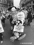 Roma, Aprile 1989 - Manifestazione aborto