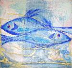 """""""Sternzeichen Fisch"""" Acryl auf Leinwand 2008"""
