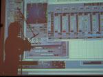 Computeroberfläche der Raumklangregie im Projekt zentrifuge