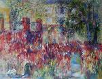 Terrasse à l'automne                  Huile sur toile      116x89