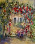 Le jardin d'Annick                                     Huile sur toile 40F
