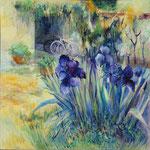 Les Iris 3                                                   Huile sur toile   100x100