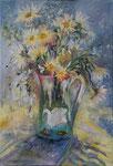 Le bouquet au cygne  Huile sur toile  20M