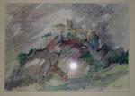 Bardi La forteresse                          aquarelle     60x80