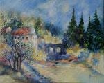 Moulin en Bourgogne                            Huile sur toile  25F