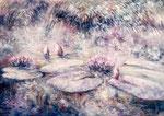 Juin à la Mare aux Pigeons        Huile sur toile   30M