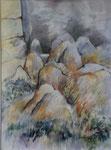 Les Lavezzi 3                        aquarelle  70 x85