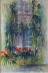 A la fenêtre                     aquarelle  60x80