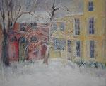 Jardin sous la neige                         Huile sur toile   30F  92 x 73