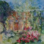 Jardin                                                       Huile sur toile  100x100