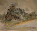 Bardi La forteresse 2                        aquarelle     60x80