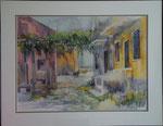 Granelli    La maison ocre   Aquarelle 100 x 70