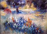 Iris Annick                                    Huile sur toile  20M