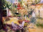 Jardin2                                                           Huile sur toile  60F