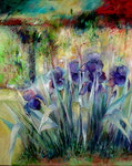 Les Iris 2                                                    Huiles sur toile  40F