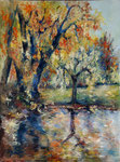 Automne au Jardin anglais                  Huile sur toile  60x80