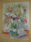Bouquet au cygne 3      aquarelle            60 80