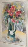 Bouquet au cygne            aquarelle  60x80