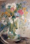 Bouquet au cygne  2      aquarelle       60x80