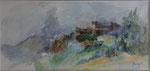 Chateau de bardi                            aquarelle    40x70