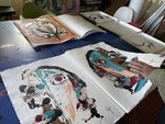 Erick Ifergan, cahier d'artiste. Galerie d'art Biot village. Galerie Gabel
