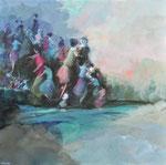 Clothilde Lasserre-Huile sur toile-80X80cm-Galerie d'art à Biot-GABEL-French Riviera