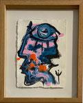 Erick Ifergan, acrylique sur papier. Galerie d'art Biot village. Galerie Gabel