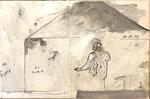 """Philippe Croq """"NO HOME"""" 41X27cm technique mixte sur toile-Galerie Gabel- Côte d'Azur"""