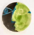 Erick Ifergan, assiette d'artiste, peinte à la main. Galerie d'art Biot village. Galerie Gabel