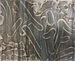 """Jérémy Besset, """"La vie"""" 27X22cm, acrylique sur toile, galerie Gabel, Biot, Côte d'Azur, France"""