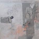 Philippe Croq, 150X150cm, technique mixte sur toile-Galerie Gabel- Côte d'Azur
