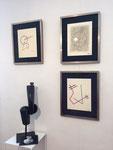 Exposition REM (Raymond Coninckx) 27 août-15 septembre 2015 Galerie Gabel-Biot (sculpture en bronze Thierry Pelletier)