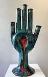 Erick Ifergan, sculpture en céramique. 86cm. Galerie d'art Biot village. Galerie Gabel
