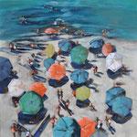 Clothilde Lasserre-Huile sur toile-100X100cm-Galerie d'art à Biot-GALERIE GABEL-French Riviera