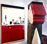 Edouard Buzon-Jacky Coville-le rouge à l'honneur-Galerie d'art Biot