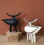 Sandrine Auric, grès émaillé fait main, Galerie Gabel, Biot