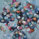 """Clothilde Lasserre-Huile sur toile-""""Petite douceur"""" 30X30cm-Galerie d'art à Biot-GABEL"""