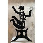 """Antonine de Saint Pierre, sculpture, mobile """" Eva"""" 90cm, 170, 220, 300cm, sculpture en découpe d'acier peint. Galerie Gabel, Biot, France"""