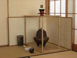献茶には竹台子が使われます