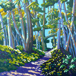 The woodland walk - Acrylic on canvas board, 20 x 20 inches.  Highly Commended Army Arts Society exhibition 2012.  Private client.