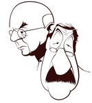 John Dos Passos and Günter Grass Caricature, © by André Gonçalves. In: John Dos Passos' Influence on Günter Grass.