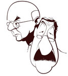 John Dos Passos and Günter Grass Caricature, © by André Gonçalves. In: John Dos Passos' Influence on Günter Grass.