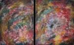 Weltraumfarben, 130cm x 80cm