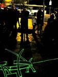 night time laser drawings